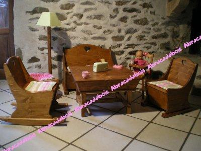 JOUET BOIS - L'ENSEMBLE COLLECTION LUCILUCE/ ABRACADABOIS Jouets et petits mobiliers enfant en bois / Idées originales et uniques / Fabrication artisanales