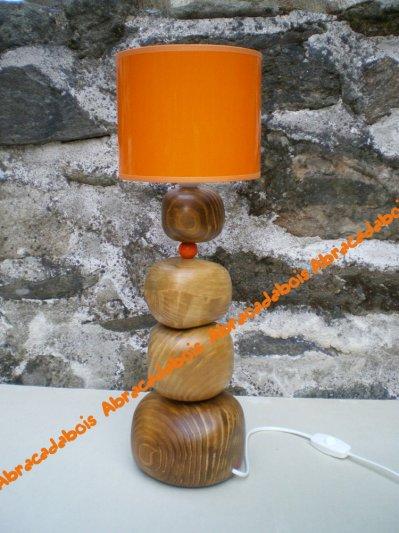 """LAMPE """"Boulaboule"""" Collection Lilou                                              /           ABRACADABOIS Petits mobiliers et Jouets en bois / Travail artisanal"""