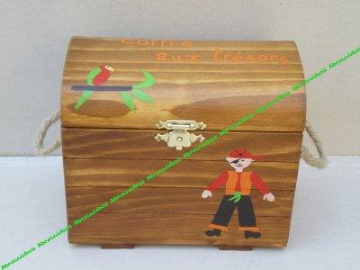 Jout bois         /                   COFFRE AUX TRESORS                                             /                            ABRACADABOIS Jouets en bois et petits mobiliers enfant /   travail artisanal du bois