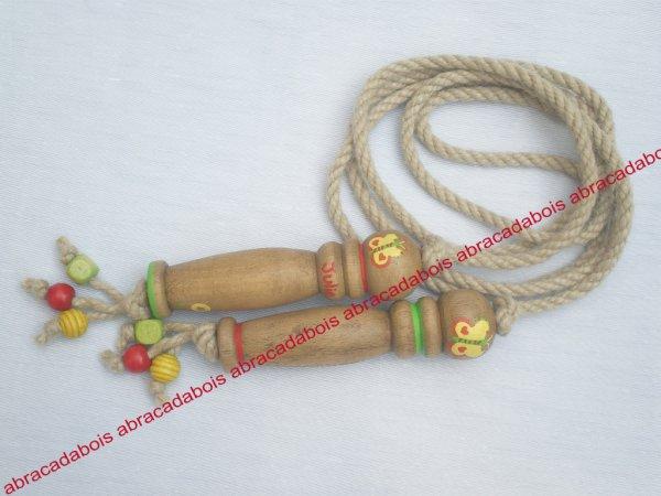 Jouet bois / Corde à sauter personnalisée   + 5 euros personnalisation  /   Abracadabois jouets et petits mobiliers enfants