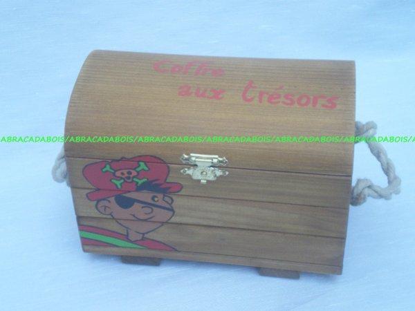 Jouet bois / Coffre aux trésors + 5 euros personnalisation  / Abracadabois jouets et petits mobiliers bois / Idées cadeaux originales et uniques