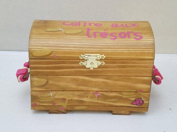 Jouets bois - Coffre aux trésors - sur commande  - fabrication artisanale et française -