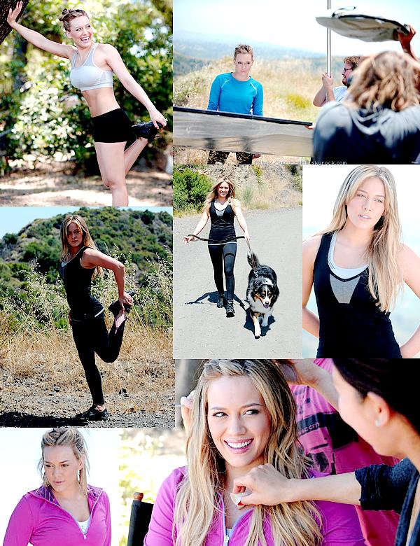 """.. Hil a participé à un photoshoot pour la marque """"Danskin"""" une marque de vêtement sportif qui soutient l'association Blessing in a Backpack il y a quelques semaines de ça et aujourd'hui nous avons droit au photos et aux vidéos. Hilary est absolument magnifique! Elle a vraiment un corps de rêve! .."""