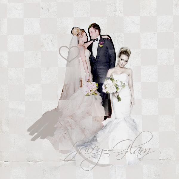 """.First Wedding Anniversary .Il y a 1 AN jour pour jour Hilary Duff disait OUI a Mike Comrie.. Ils célèbrent leur premier anniversaire de mariage et je leur souhaite TOUT le bonheur du monde et tout le Meilleur que l'on peut leur souhaiter!!! Le 14 août 2010 dans une villa de Santa Monica au moment du couché de soleil, Hilary a déclaré """"I do"""" et est depuis une heureuse et magnifique jeune mariée. 1 an déjà et c'est toujours le bonheur. Toujours sur leur nuage les Comrie se sont offert une toute nouvelle maison, pour une nouvelle famille... ."""