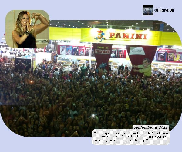 ..04/09/11 Hil faisant la promo d'Elixir à Rio de Janeiro, Brésil. Photos, Photos.