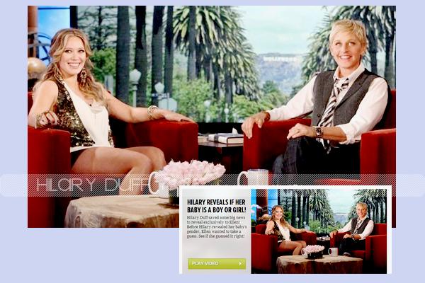 ...___17/10/11.___.__Hilary, à l'émission Ellen Degeneres Show._Elle est ABSOLUMENT MAGNIFIQUE !!.