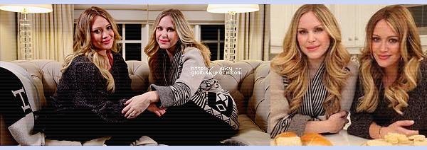 ..Hilary Duff et Leah Miller pour E! Online L'une des plus proches amies d'Hilary, Leah, présente l'émission « E! Presents Biggest Break Ups, Hook Ups and Knock Ups of 2011 » pour la chaîne E! Online. Une émission tourné chez elle à Toronto. Hil a donc participé a cette émission et a répondu a des questions elle a déclaré d'ailleurs que son fils fera ce qu'il aime et qu'elle l'encouragera, que c'est un bout de son mari et elle et qu'elle a hâte de le voir... C'est vraiment beau ce qu'elle dit! Elle a ensuite parlé des paparazzi. Elle est magnifique!   ..
