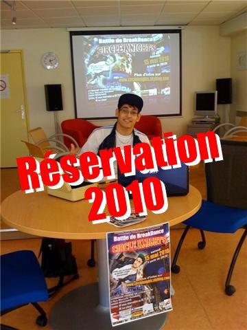 Dates de Réservation 2011 au BLOG46