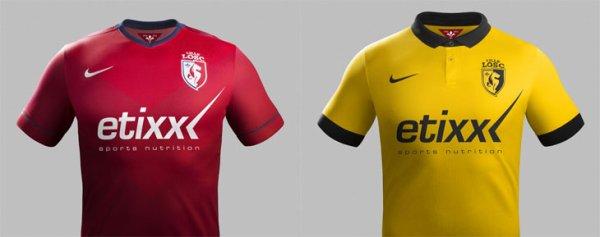 LOSC / Nike : les maillots officiels 2014-2015 dévoilés
