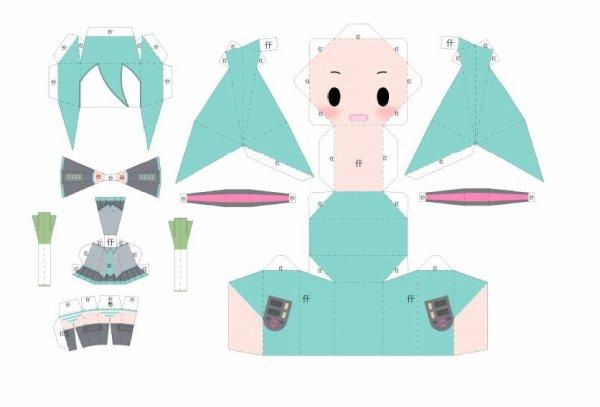 Papercraft Miku Hatsune de vocaloid