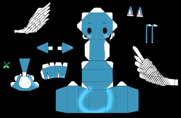 papercraft happy de fairy tail