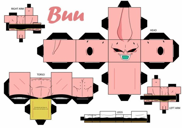 papercraft buu de dragon ball z