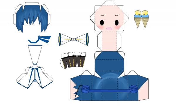 Papercraft Kaito shion de vocaloid