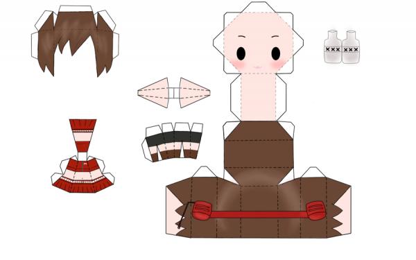 Papercraft Meiko Sakine de vocaloid