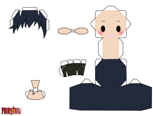 papercraft grey fullbuster de fairy tail
