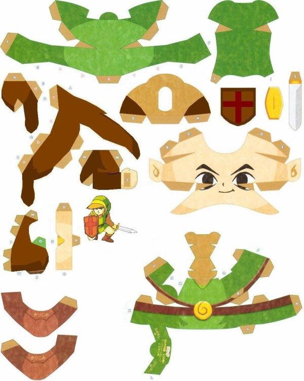 Papercraft Link de Zelda