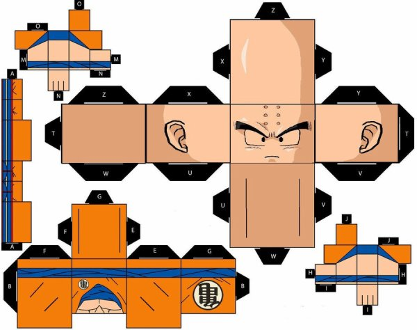 papercraft Krilin de dragon ball (z et gt)