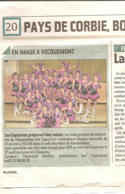 ARTICLE PARU CE SAMEDI 29 JANVIER 2011 DANS LE COURRIER PICARD