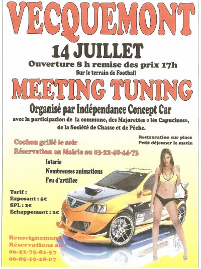 MEETING TUNING ORGANISE LE 14 JUILLET A VECQUEMONT