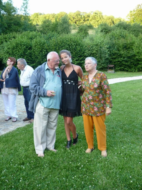 avec mes grands parents