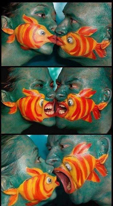 l'amour avec le poisson