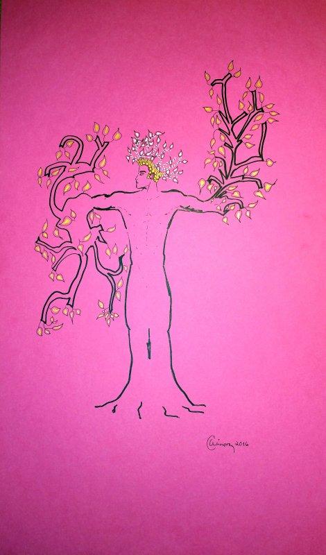 """""""Como un árbol"""": un poema y """"Un árbol divino y esperado"""", un cuadro. Dos de mis creaciones. Por Alejandro Cánovas Pérez"""