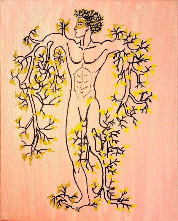 Un árbol enmascarado, expuesto en el Gran Salón de la Casa de los Ciudadanos de Fontenay sous Bois  Por Alejandro Cánovas Pérez