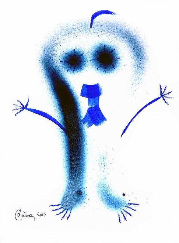 """Écfrasis : el poema « El regreso posible » y el cuadro """"El extraterrestre"""", 2007 en el Blog Cubano de Filología... Por Alejandro Cánovas Pérez"""