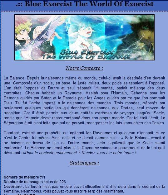 Mon Forum RPG http://betwoev2.forumgratuit.fr/