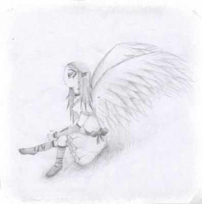 Dessin 3 Ange Manga Gothique Blog De Clem S Draw