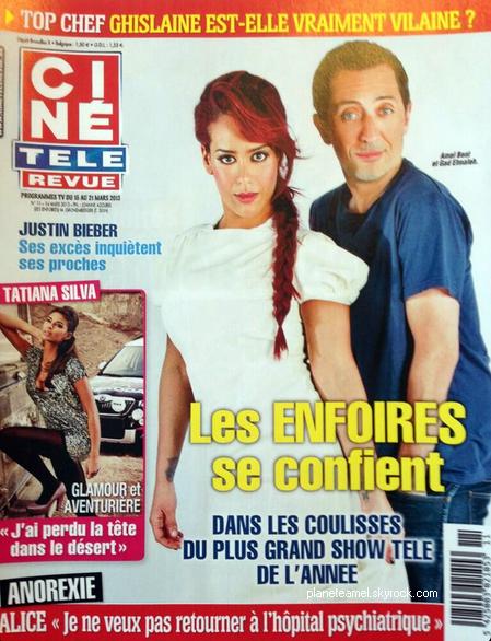    Amel en couv' du mag Ciné Télé Revue de cette semaine aux côtés de Gad Elmaleh   