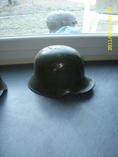 Sthalhelm model 16 découvert près de Ypres