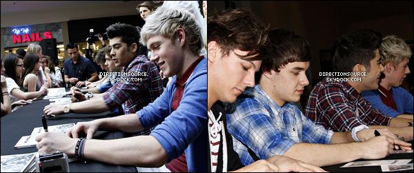 .    11/03/12 : Les garçons signaient des autographes pr Up All Night au centre commercial Westfield Sunrise  .
