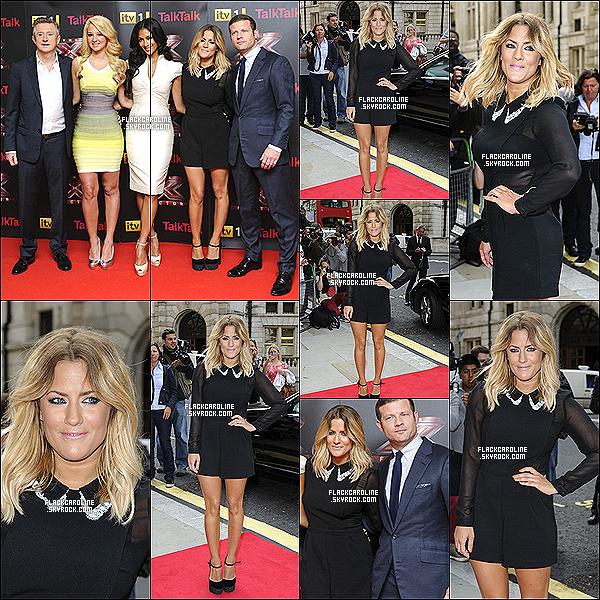 16/08/2012 || Caroline F. sur la Red Carpet pour les auditions de X Factor UK. Caroline est magnifique, j'aime bien sa robe, mais trop simple à mon goût. Et toi tu en pense quoi? TOP ou FLOP?.