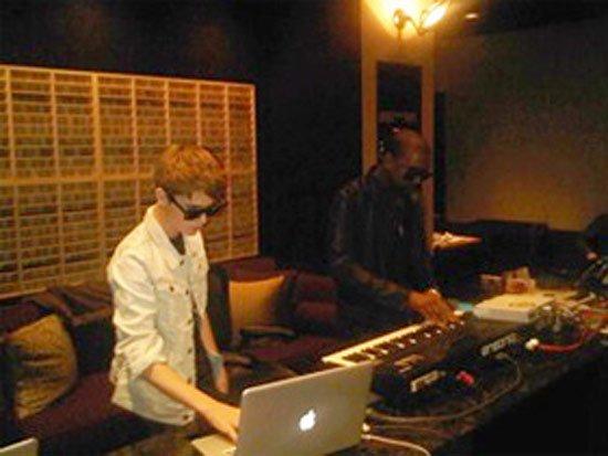 Kanye West en studio avec Justin Bieber