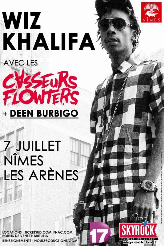 WIZ KHALIFA en concert avec les Casseurs Flowters & Deen Burbigo !
