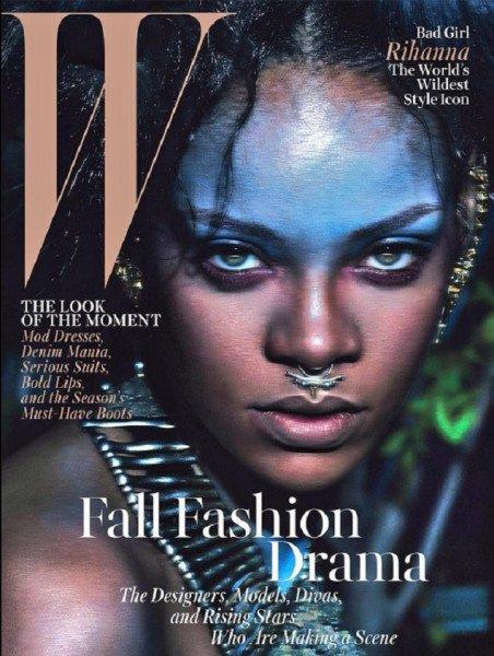 Rihanna, sauvage pour la Une du W Mag !