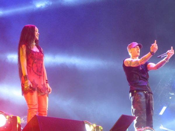 Les photos exclusives du Monster Tour - Eminem et Rihanna !
