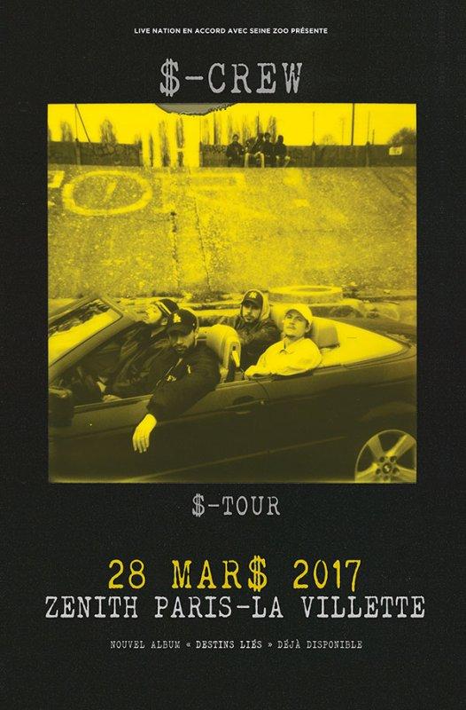 Le S-Crew en concert au Zénith de Paris !