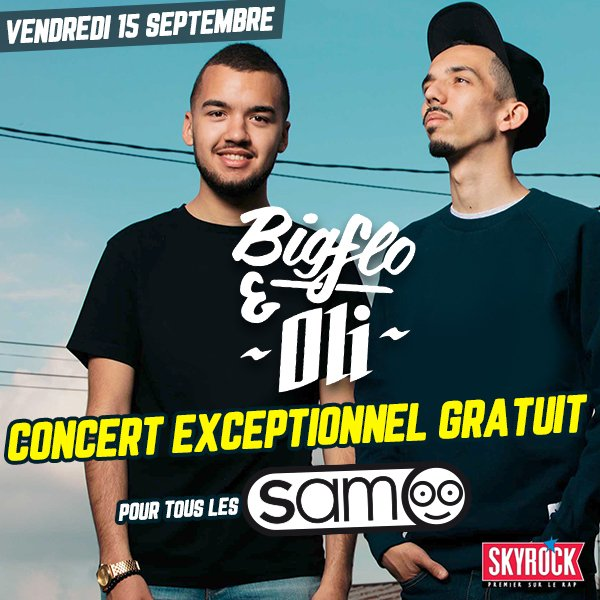 Inscriptions : Bigflo et Oli en concert exceptionnel à Paris !