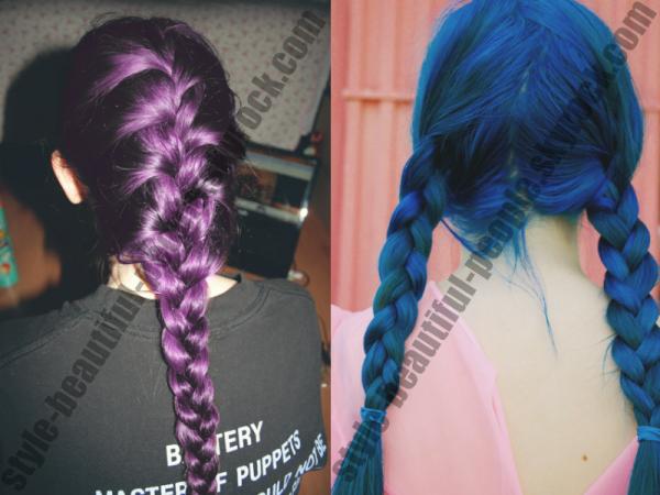 J'aime beaucoup les hairs colorés et les nattes voilà comment mélanger 2 choses que l'on aiment !