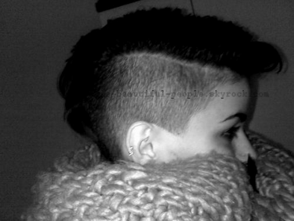 Shaved hair
