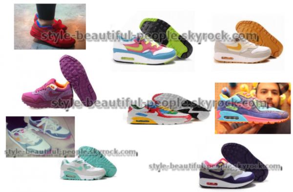 Nike Air max , plusieurs modèles .