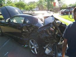Ma voiture après l'accident 07/08/2013...09H25M