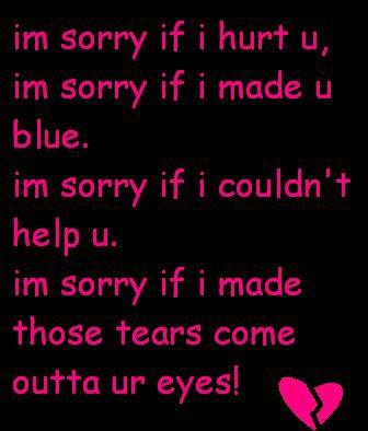 Je suis désolé pour tous mes amis (Je t'aime)