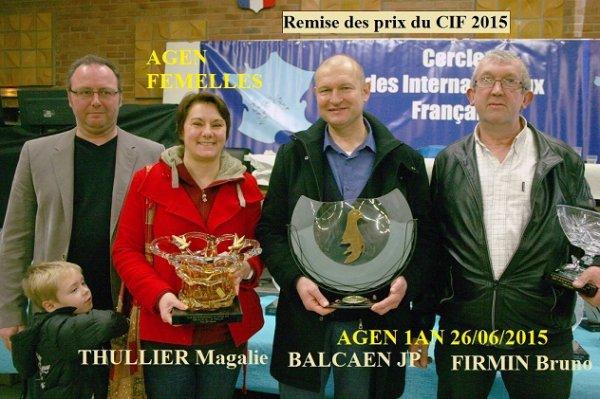 Les amis du centre d'Hazebrouck à la remise des prix CIF 2015. Euro-Diamond