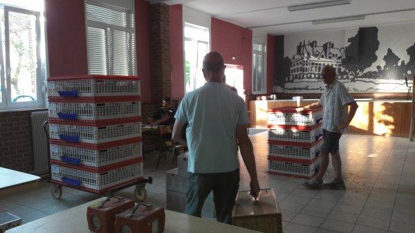 laché à 7h35.420 pigeons contre 309 l'an dernier!.attention Pau devient Mont de Marsan!.