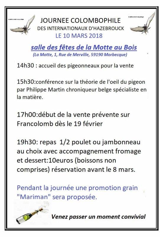 2018 c'est parti !.1° étape réussir la journée du 10 mars à la Motte au bois.