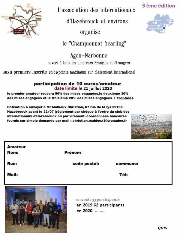 2020 Challenge yearlings  Agen/Narbonne.