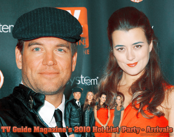"""Cote De Pablo & Michael Weatherly au TV Guide Magazine's """"2010 Hot List"""" Party - Arrivals"""